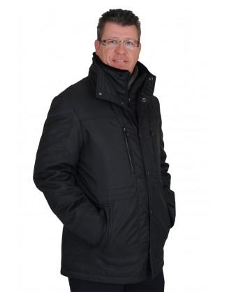Jacket nylon noir doublure agneau renversé détachable style RM2025