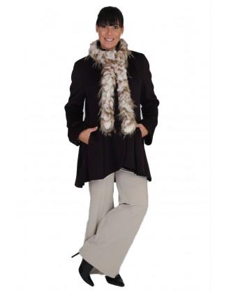 100% laine vierge noire ajusté style MAL 4280 SF1