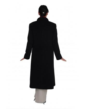 Laine et angora noir long style MAL 1414 J1