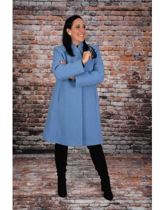 Laine boucle bleu pâle HISO style 4270