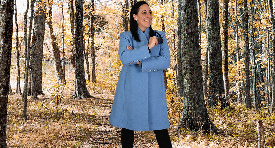 Navy trench from Trench&Coat